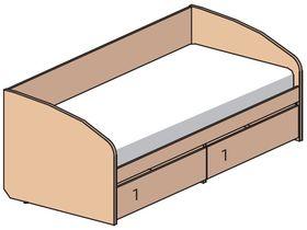 """Кровать-диван под матрас 190х80 см из детской коллекции """"Некст"""""""