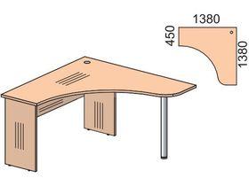 """Детский угловой стол в нескольких размерах из коллекции """"Некст"""""""