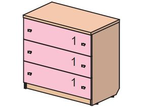 """Детский комод с тремя ящиками из коллекции """"Некст"""""""