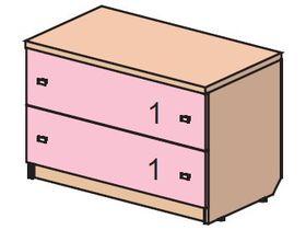 """Детский комод с двумя ящиками из коллекции """"Некст"""""""