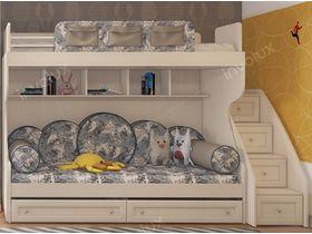 """Детская двухъярусная кровать в белом цвете """"Соня"""""""