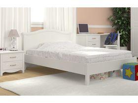 """Белая кровать из массива для детской """"Снежана"""""""
