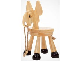 Детский стульчик-игрушка из массива Ослик
