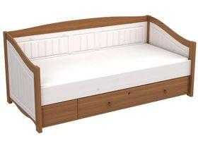 """Детская кровать-диван с выкатным ящиком в светлых тонах из коллекции """"Милано"""""""