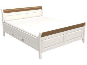 """Кровать с ящиками в белом цвете в нескольких размерах из коллекции """"Милано"""""""