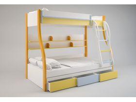 """Кровать двухъярусная в яркой цветовой гамме из коллекции """"Fortuna"""""""