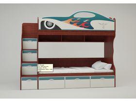 """Детская двухъярусная кровать  для мальчика """"Hot Rod"""""""
