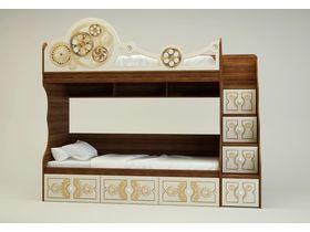 """Двухъярусная кровать с ящиками в стиле  """"Механика"""""""