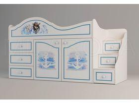 """Детская кровать-чердак  для мальчика многофункциональная """"Пират"""""""