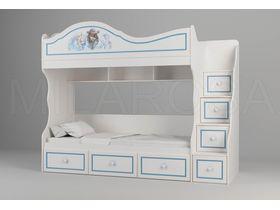 """Детская двухъярусная кровать  c ящиками """"Пират"""""""