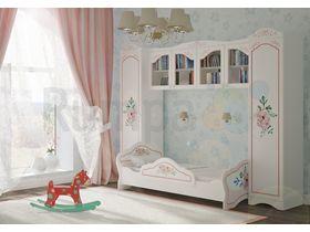 """Детская стенка для девочки """"РОМЕО"""" с кроватью диваном"""