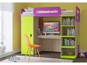 """Детская комната """"Тетрис"""" в яркой цветовой гамме"""