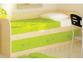 """Детская кровать диван с 3 ящиками зеленого цвета """"Макс"""""""