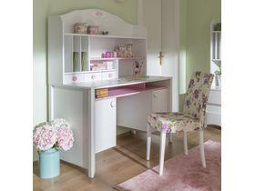 """Детский стол для школьника в бело-розовых тонах """"Crown"""""""