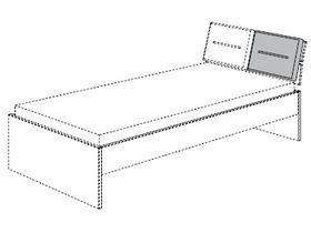 Подушка для изголовья кровати (1 шт.)