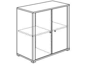 Комод (2 дверцы, 2 полки)