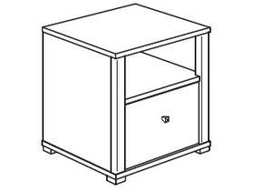 Тумбочка (1 ниша, 1 ящик)