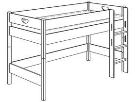 Игровая кровать (с лестницей прямой и отверстиями)