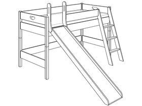 Игровая кровать (с горкой, с лестницей наклонной)