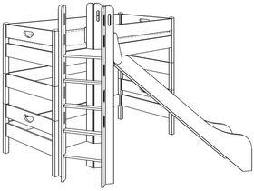 Игровая кровать (с башней и горкой)