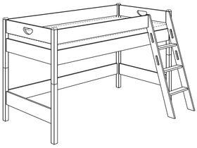 Игровая кровать (с лестницей наклонной)