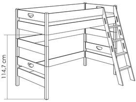 Игровая кровать (с лестницей наклонной и отверстиями)