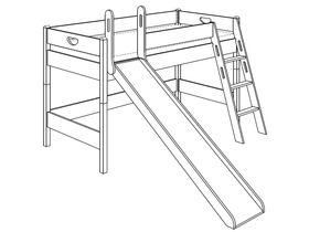 Игровая кровать (с горкой, с лестницей наклонной с отверстиями)