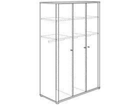 Шкаф платяной (3 дверцы, 2 стенки средних, 6 полок, 3 штанги для одежды)