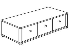 Нижний элемент (3 ящика)