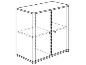 Комод (2 полки, 2 дверцы)