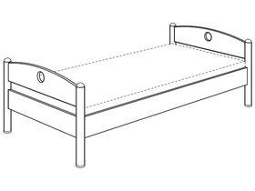 Кровать с 2-умя изголовьями