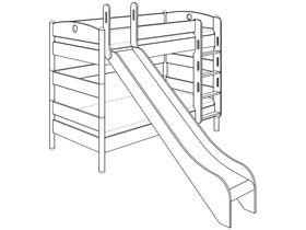 Детская двухъярусная кровать (с горкой) из массива берёзы