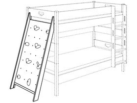 Доска для лазания для кроватей высотой 183 см