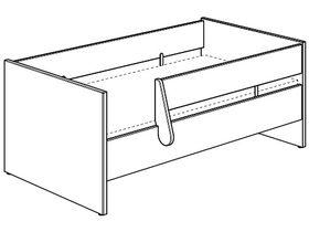 Кровать дошкольная 70x140