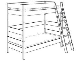 Двухъярусная с лестницей наклонной высотой 183 см