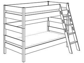 Двухъярусная с лестницей наклонной высотой 155 см