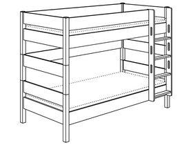 Двухъярусная с лестницей прямой высотой 155 см