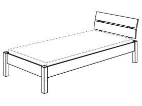 Кровать с наклоненным изголовьем