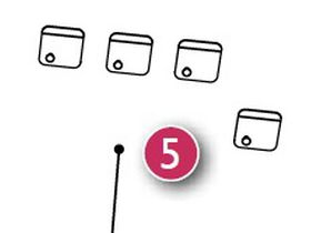 Комплект крючков для шкафа (4 шт.)