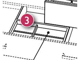Вставка-разделитель для ящиков с лотком для утвари