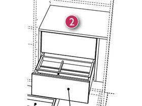 Комплект ящиков 2S для шкафов (цвет только Ecru)