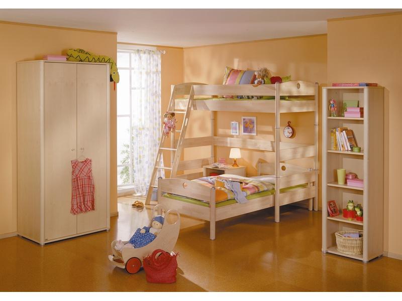 Детская двухъярусная кровать Fleximo из массива берёзы