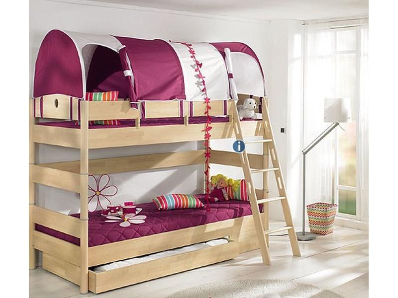 """Детская двухъярусная кровать """"Fleximo"""" H=155 из массива берёзы"""