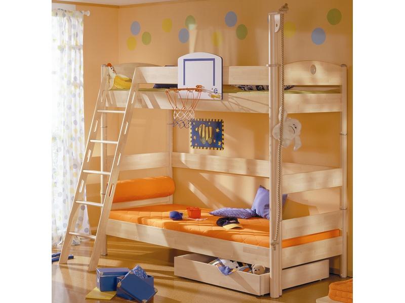 Детская двухъярусная кровать Fleximo H=183 из массива берёзы