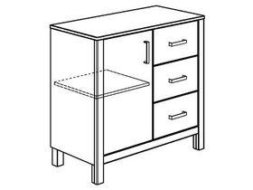 Комод (1 дверца, 3 ящика)
