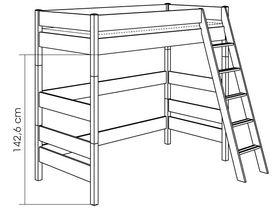 Детская игровая кровать с наклонной лестницей H=183 из массива сосны