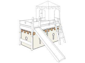 Занавес для рыцарского замка (комплект - 1 торец+фронт)