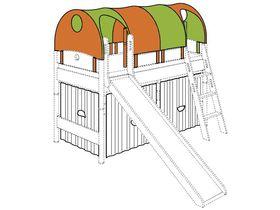 Крыша-фургон с2-мя проемами по длинной стороне