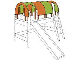 Крыша-фургон с2-мя проемами по длинной стороне и проемами с торцов