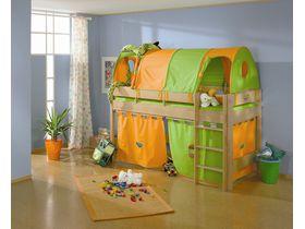 Детская игровая кровать с прямой лестницей Varietta высотой 155см из массива бука